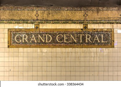 New York City - November 8, 2015: Grand Central Station in the New York City Subway system.