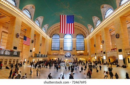 NEW YORK CITY, NY - AUG 8: Grand Central is the second busiest station of the New York City Subway system with 42,002,971 passengers in 2009. August 8, 2010 in Manhattan, New York City.