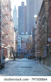 New York City, NY / Manhattan - 12272017 : Afternoon street view near Canal Street in New York City