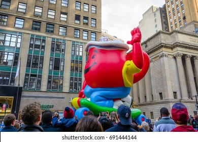 NEW YORK CITY, NY - NOVEMBER 26 , 2015  Kool-Aid float at Macy's  Annual Thanksgiving Day Parade