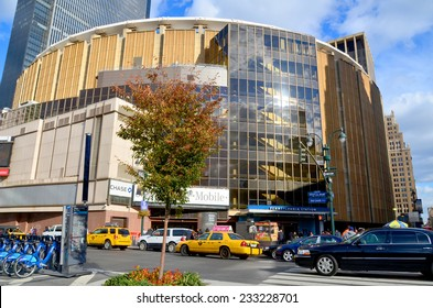 NEW YORK CITY, NY OCT 3: Madison Square Garden is an indoor arena that sits above Penn Station. It is home to the NY Knicks (NBA), NY Rangers (NHL) and NY Liberty (WNBA), oct 3rd, 2013 in NYC