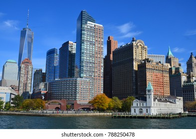 NEW YORK CITY, NY  OCT 29 13 : Lower Manhattan, also known as Downtown Manhattan, is the southernmost part of Manhattan, the central borough for business, culture, and government