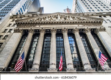 NEW YORK CITY, NY - SEPTEMBER 17, 2016: Wall Street New York Stock Exchange is the world's largest stock exchange by market capitalization of its listed companies.