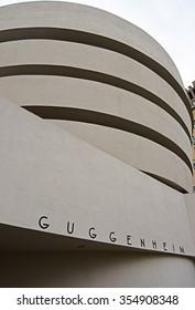 New York City, NY, USA - Nov. 24, 2015 - Manhattan's Guggenheim Museum