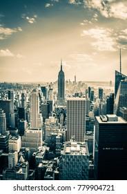 New York City, NY USA - 05/11/2015 - New York City Manhattan Skyline