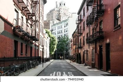 New York City, NY, USA 05.29.2016 Gay Street in Greenwich Village, Manhattan