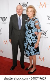 """NEW YORK CITY, NY/USA -  NOVEMBER  13  2015: Kenneth Langone and Elaine Langone attend the HSUS """"To the Rescue!"""" Gala."""