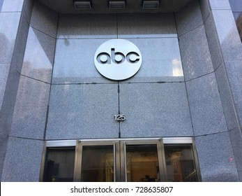 NEW YORK CITY - OCT 2017: ABC American Broadcasting Company building in Manhattan. ABC and ESPN are part of Disney, and are suffering from cord cutting NYSE: DIS