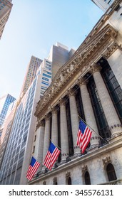 NEW YORK CITY - OCTOBER 08, 2015: New York Stock Exchange in Manhattan. It is by far the worlds largest stock exchange by market capitalization of its listed companies