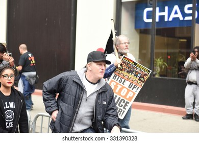 NEW YORK CITY - OCTOBER 24 2015: More than one thousand activists marched on behalf of the families of victims of alleged police brutality in RiseUpOctober. Actor Michael Rappaport