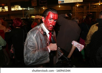 NEW YORK CITY - OCTOBER 31, 2013: The fortieth annual Village Halloween Parade filled Sixth Ave with 60,000 marchers & 2,000,000 spectators celebrating revival October 31 2013 in New York City