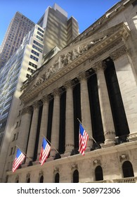 New York City - October 31, 2016: Wall Street, NYC, USA.