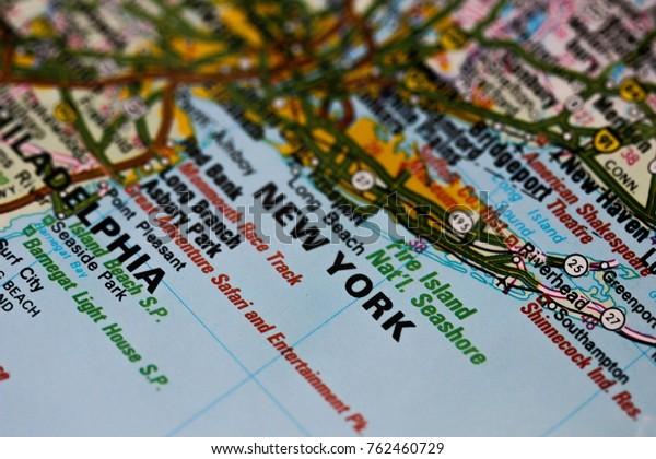 New York City On Map Usa Stock Photo (Edit Now) 762460729
