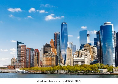 New York City panorama with Manhattan Skyline