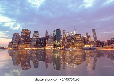 New York City Reflections at sunset, Building reflections in New York city America