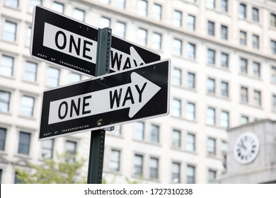new york city road sign one way