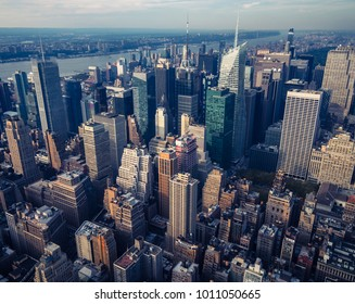 New York City seen from the roof of Empire State Building in 2014, New York, United States