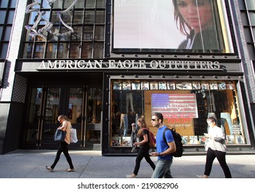 NEW YORK CITY - SEPT. 10, 2014: An American Eagle Outfitters store in New York City, on Wednesday, September 10, 2014. American Eagle Outfitters is a clothing and accessories retailer