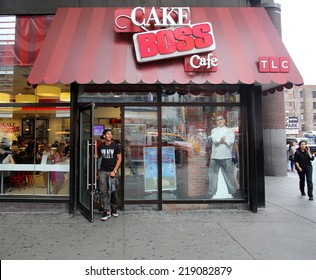 NEW YORK CITY - SEPT. 11, 2014: the Cake Boss Cafe in New York City on September 11, 2014. Cake Boss Cafe is the Manhattan outlet of Carlo's Bakery, home of the Cake Boss, Buddy Valastro
