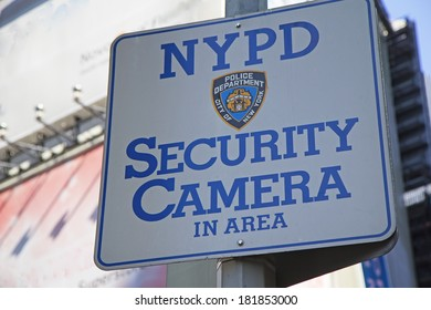 NEW YORK CITY - SEPT 22: Queens, part of New York City is getting an additional 57 NYPD security cameras within 2014. It funded the cameras using $2 million. September 22, 2012  in Manhattan, NYC.