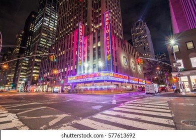 NEW YORK CITY - September. 01: Radio City Music Hall in Rockefeller Center is home of the Rockettes and famous annual Christmas Spectacular on September 01, 2016, New York City, NY