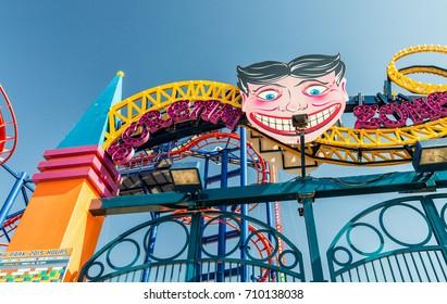 NEW YORK CITY - SEPTEMBER 2015: The Luna Park amusement park at Coney Island in New York City.