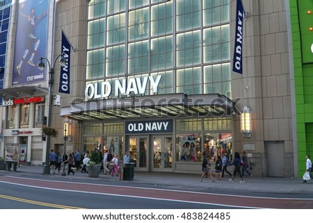 66886f5e63b New York City - September 2016  Old Navy flagship Manhattan store front - an  American