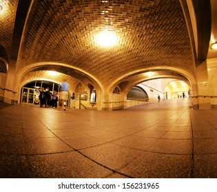 NEW YORK CITY - SEPTEMBER 22: Grand Central Station Whispering Arch on September 22, 2013 in NYC. It is 4 archways where whispers can sound like shouting when people stand at opposite ends.