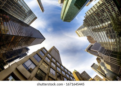 NEW YORK CITY - SEPTEMBER 22, 2019: Beautiful view of skyline at evening time. Beautiful landscape backgrounds.