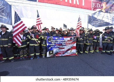 NEW YORK CITY - SEPTEMBER 25 2016: the 15th annual Stephen Sillers Tunnel to Towers 5K Run/Walk saw record number of participants.