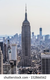 New York City, New York - September 4: Empire State Building with its surrounding, in New York City, NY, on September 4, 2013. The Empire State Building stood as the tallest in the world for 40 years.
