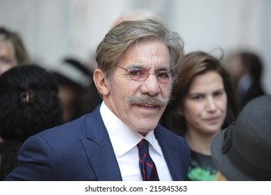 NEW YORK CITY - SEPTEMBER 7 2014: the funeral of comedienne Joan Rivers took place at Temple Emanu-El on Manhattan Upper East Side with many celebrities in film, TV & fashion attending.