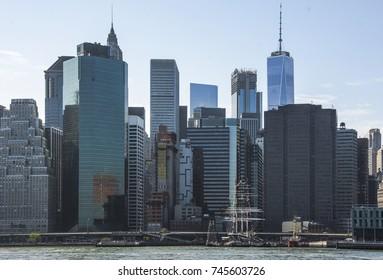New York City Sky View. Landscape of New York USA
