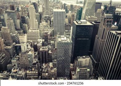 New York City skyline aerial view - Manhattan