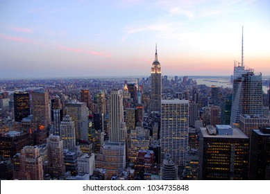 The New York City. Skyline at afternoon