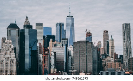 New York City Skyline Grey