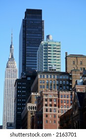 New York City Skyline with Landmark and Apartment Buildings