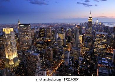 New York City skyline, Manhattan, New York