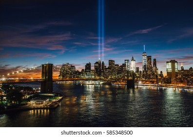New York City Skyline on September 11