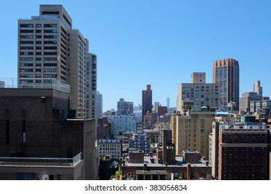 New York City skyline from the roof top