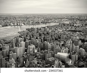 New York City Skyline in a vintage tone