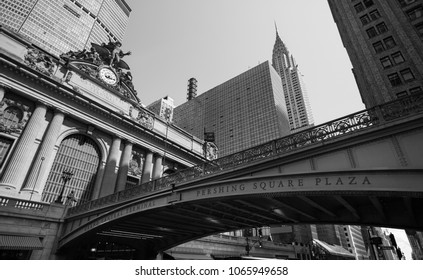 New York City Street in Black and White