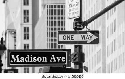 New York City Street Signs, Manhattan