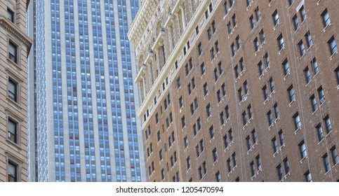 New York City Tall Building Façade High Skyscrapers Abstract Background
