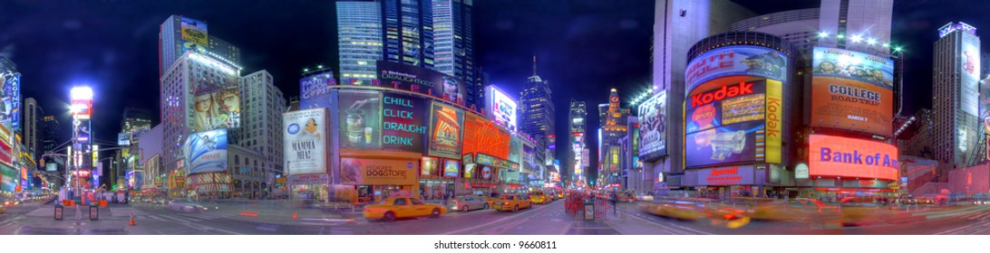New York City, Times Square at night