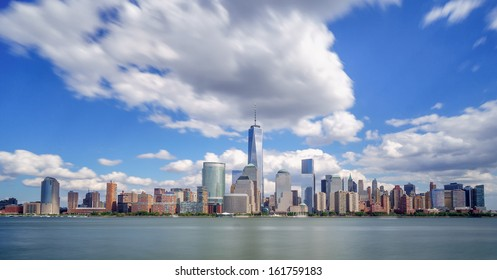New York City under dramatic clouds