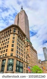 New York City, United States - May 6, 2017: Empire State Building, the tallest in the world building from 1931 to 1970. Manhattan