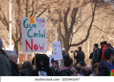 New York City, New York, United States of America, March 24, 2018. The March For Our Lives demonstration was a student-organized demonstration against gun violence.