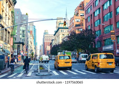 New York City, United States - November 3, 2017:  A view of Manhattan's avenue ( Ladies' Mile Historic District)