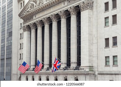 NEW YORK CITY, UNITED STATES - CIRCA OCTOBER 2016: The New York Exchange (NYSE) building, New York City, USA